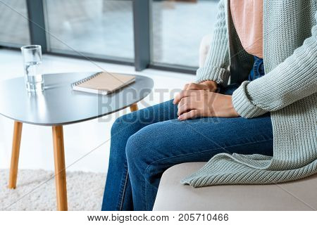 Young Woman At Psychotherapy