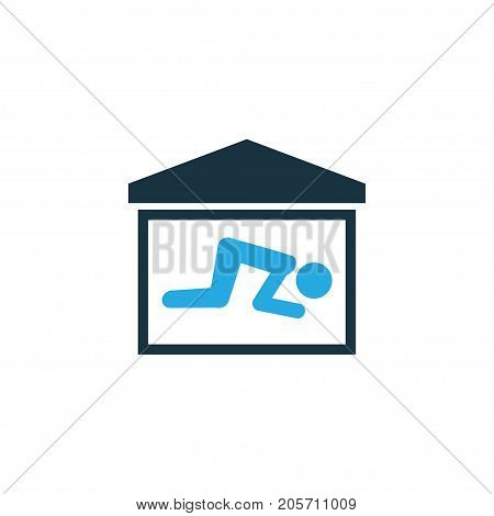 Premium Quality Isolated Room Element In Trendy Style.  Praying Colorful Icon Symbol.