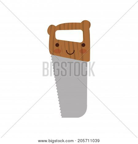 hand saw icon colorful kawaii silhouette vector illustration