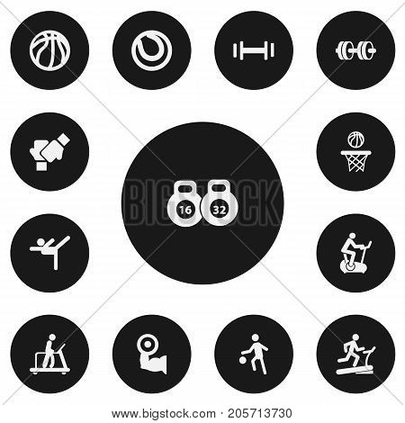 Set Of 13 Editable Healthy Icons. Includes Symbols Such As Racetrack Training, Gauntlet, Sportsman And More