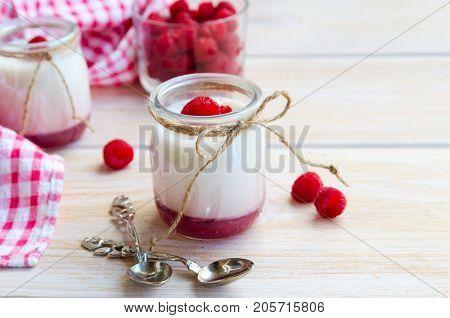 Fruit On The Bottom Yogurt Jar Background