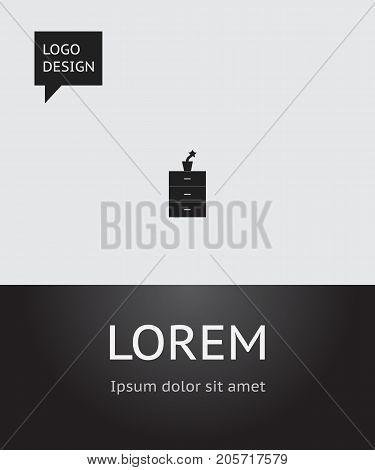 Vector Illustration Of Furniture Symbol On Flowerpot Icon