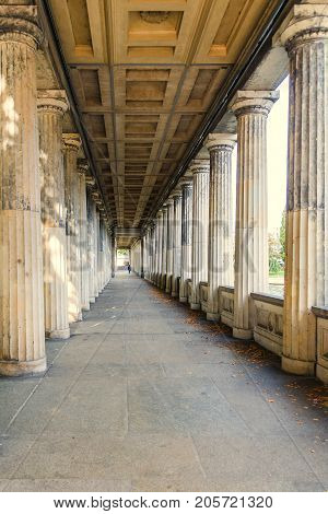portico arcade colonnade alte nationalgalerie berlin germany