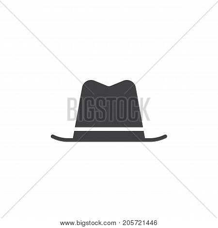 Hat icon vector, filled flat sign, solid pictogram isolated on white. Symbol, logo illustration.