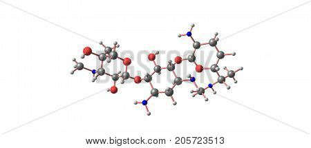 Gentamicin Molecular Structure Isolated On White