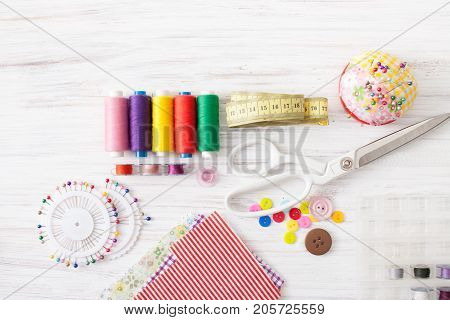 Colored Sewing Thread, Supplies For Sewing Machine On White