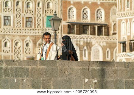 Man And Woman With Traditional Clothes