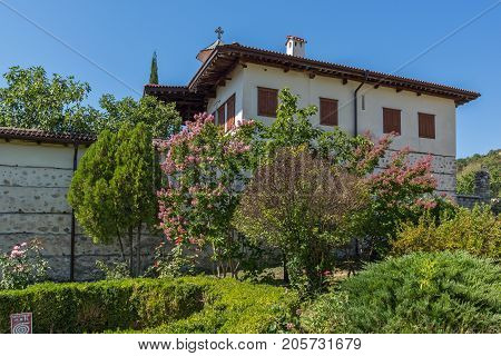 Outside view of  Rozhen Monastery of the Nativity of the Mother of God, Blagoevgrad region, Bulgaria