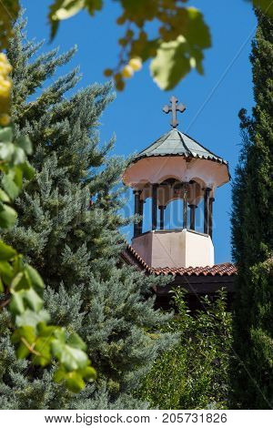 Inside view of  Rozhen Monastery of the Nativity of the Mother of God, Blagoevgrad region, Bulgaria