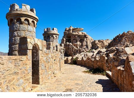 Castillitos Battery fortifications of Cartagena province of Murcia. Spain