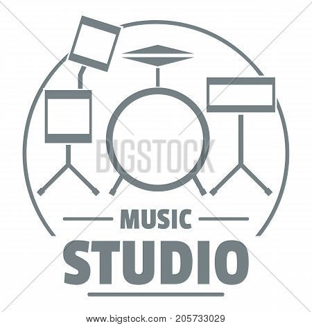 Drum kit logo. Simple illustration of drum kit vector logo for web