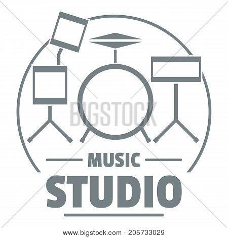 Drum kit logo. Simple illustration of drum kit vector logo for web