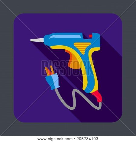 Electric glue tool concept background. Cartoon illustration of electric glue tool vector concept background for web design