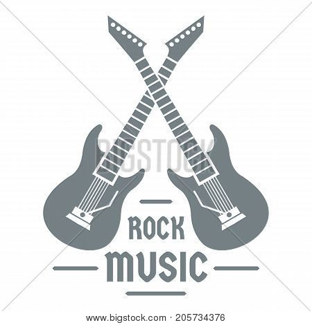 Electric guitar logo. Simple illustration of electric guitar vector logo for web