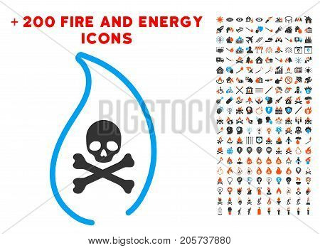 Mortal Flame pictograph with bonus energy clip art. Vector illustration style is flat iconic elements for web design, application ui.