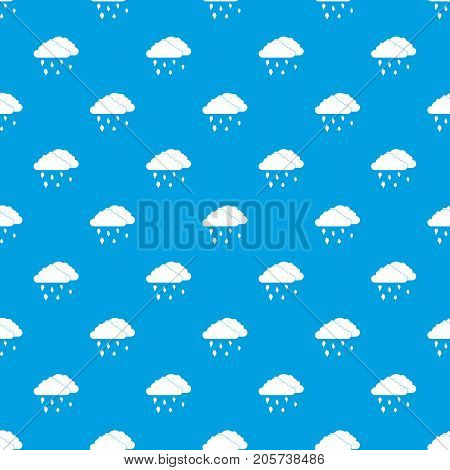 Clouds and hail pattern repeat seamless in blue color for any design. Vector geometric illustration