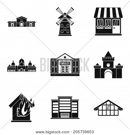 Accommodation icons set. Simple set of 9 accommodation vector icons for web isolated on white background