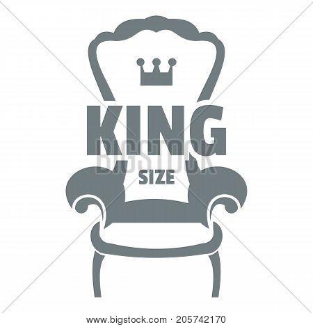 Royal armchair logo. Simple illustration of royal armchair vector logo for web