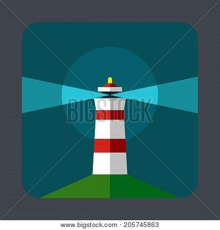 Lighthouse concept background. Cartoon illustration of lighthouse vector concept background for web design