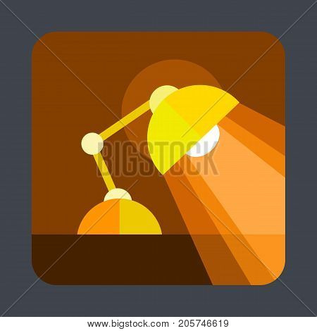 Desktop lamp concept background. Cartoon illustration of desktop lamp vector concept background for web design