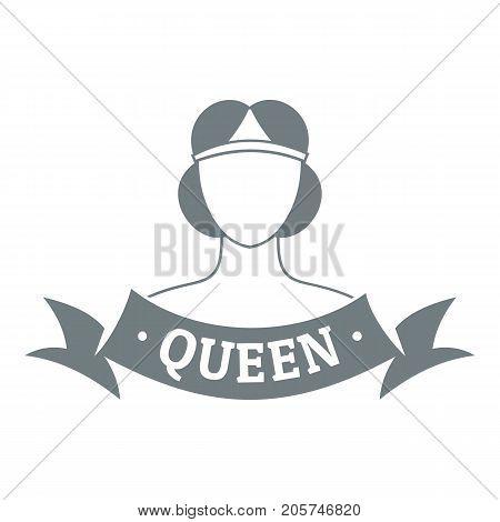 Queen logo. Simple illustration of queen vector logo for web