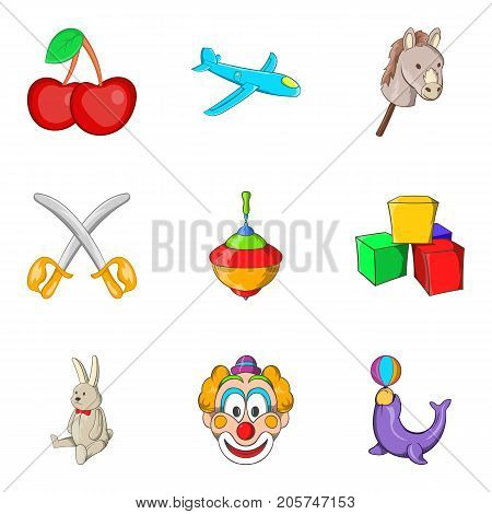 Bairn icons set. Cartoon set of 9 bairn vector icons for web isolated on white background