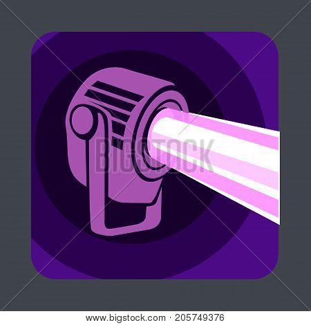Spot light concept background. Cartoon illustration of spot light vector concept background for web design
