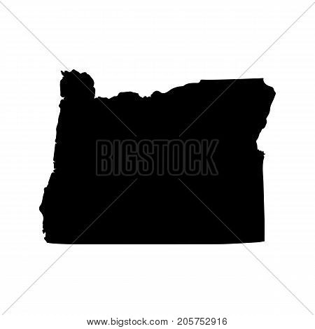 Map of the U.S. state of Oregon on a white background