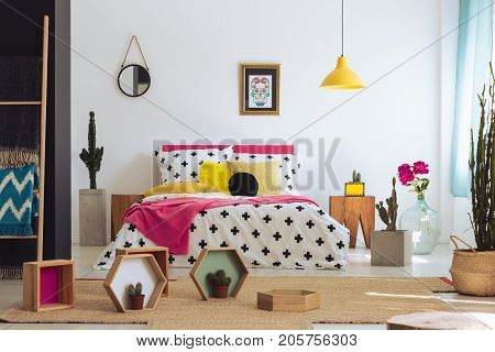Colorful Mexican Bedroom