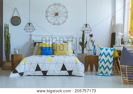 Decorative Clock In Folk Bedroom