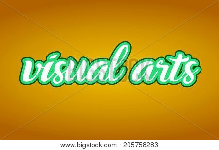 Visual Arts Word Text Logo Icon Typography Design Green Yellow