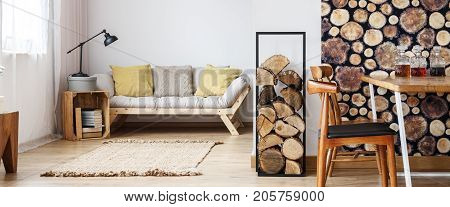 Room With Wooden Furniture