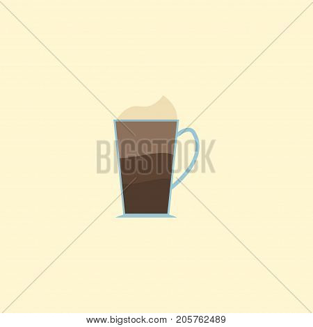Flat Icon Mocha Element. Vector Illustration Of Flat Icon Latte Isolated On Clean Background