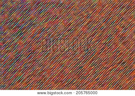Abstract colorful hatched stripes illustration. Seamless texture. Design pattern for background.