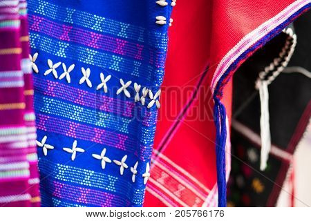 Traditional Clothes Of Karen Ethnic Hill Tribe Minority In Thailand For Sale In Market