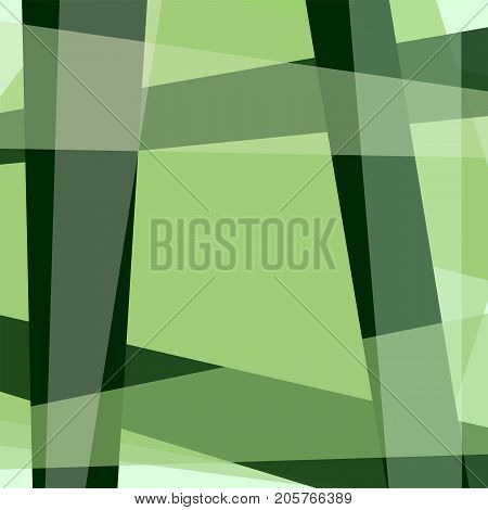 Green background with geometric frame and four cornered text box. Abstract template for wallpapers, covers, layouts, scrapbooking, wrapping paper. Vector EPS 10