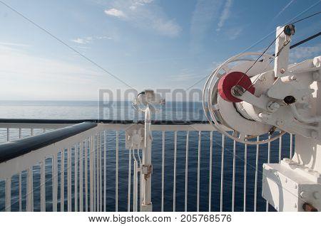 Winch On Ferry Boat