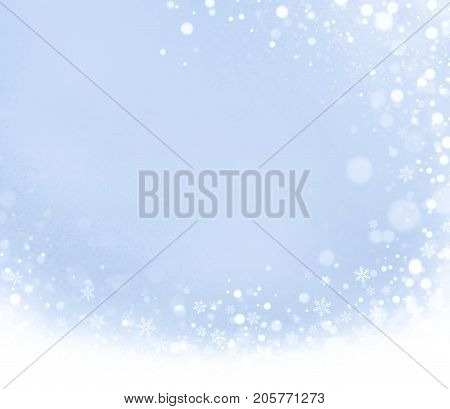 Abstract Iced Winter Background