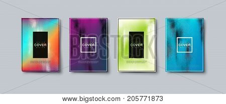 Abstract colorful engraving texture cover design. Vector creative illustration. A4 paper size posters with gradient etching lines. Party flyers template. Brandbook covers mockup design