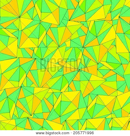 Bright, colorful, abstract pattern, psychedelic style, seamless triangles pattern. Graphic, geometric background Vector hand drawn illustration
