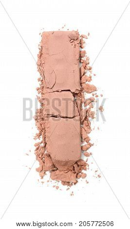 Beige Crushed Eyeshadow For Makeup As Sample Of Cosmetic Product