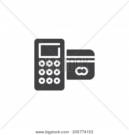 Card reader machine icon vector, filled flat sign, solid pictogram isolated on white. POS terminal symbol, logo illustration.