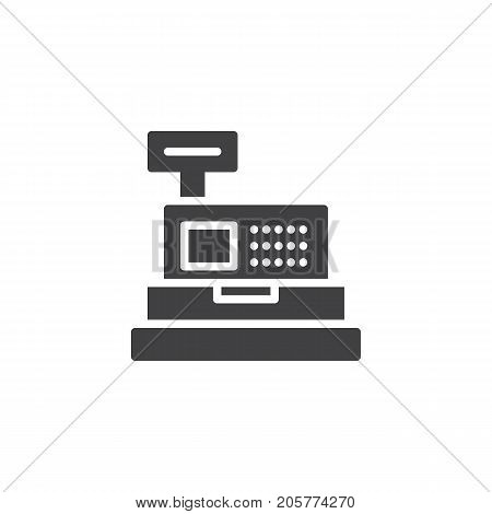 Cashier machine icon vector, filled flat sign, solid pictogram isolated on white. Symbol, logo illustration.