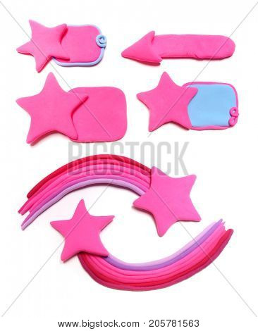 Collection Pink background. Plasticine background. Plasticine banner. Emo style