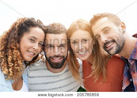Portrait of group of friends having fun together