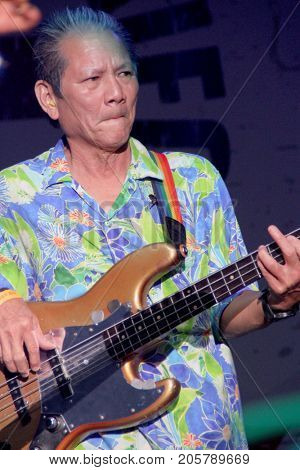 Phil Chen performs at the 10th Annual Scott Medlock-Robby Krieger All-Star Concert benefiting St. Jude Children's Research Hospital at Saddlerock Ranch in Malibu, CA on Aug. 27, 2017.