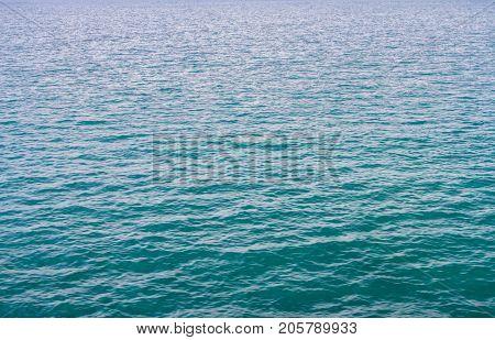 Calm Of Horizon Sea Ocean And Blue Sky Background