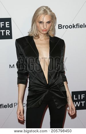 NEW YORK-SEPT 08: Model Andreja Pejic attends Daily Front Row's Fashion Media Awards at Four Seasons Hotel New York Downtown on September 8, 2017 in New York City.