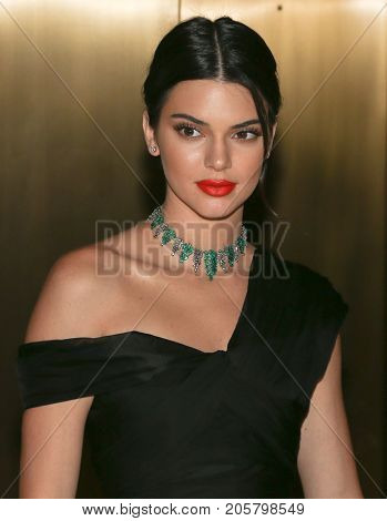 NEW YORK-SEPT 08: Model Kendall Jenner attends Daily Front Row's Fashion Media Awards at Four Seasons Hotel New York Downtown on September 8, 2017 in New York City.
