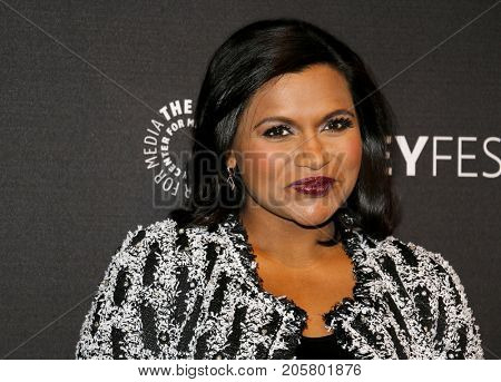 Mindy Kaling at the 11th Annual PaleyFest Fall TV Previews - Hulu's 'The Mindy Project' held at the Paley Center for Media in Beverly Hills, USA on September 8, 2017.